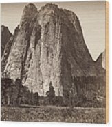 Yosemite: Cathedral Rock Wood Print