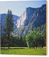 Yosemite Falls From The Ahwahnee Wood Print