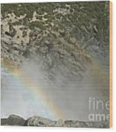Yosemite Falls Rainbow Wood Print