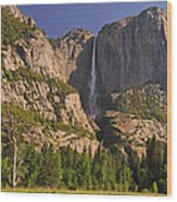 Yosemite Fall's Spring Flow Wood Print