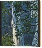 Yosemite Falls Through Trees Wood Print