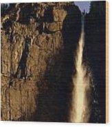 Yosemite Falls Winter Morn' Wood Print