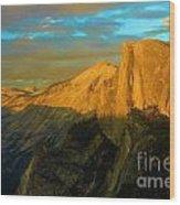 Yosemite Golden Dome Wood Print