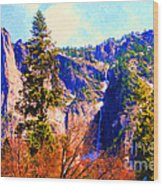 Yosemite In The Fall . 7d6287 Wood Print by Wingsdomain Art and Photography