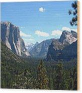 Yosemite Panorama Wood Print