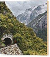Yosemite Tunnel Wood Print