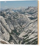 Yosemite Valley, View From Half Dome Wood Print