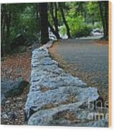 Yosemite Walk Way Wood Print