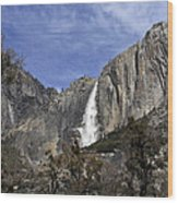 Yosemite Water Fall Wood Print