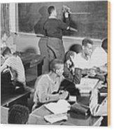 Young African American Men Receiving Wood Print