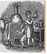 Young Chemists Wood Print