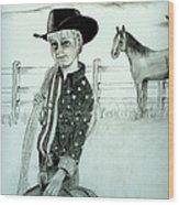 Young Cowboy Wood Print by Carolyn Ardolino