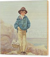Young England - A Fisher Boy Wood Print