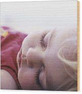 Young Girl Sleeping Wood Print