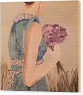 Young Girl Young Woman Wood Print