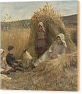 Young Harvesters Wood Print by Lionel Percy Smythe
