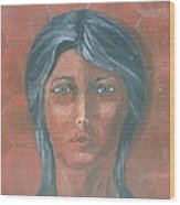 Young Indian Woman Wood Print