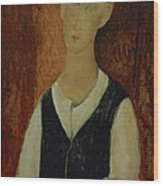 Young Man With A Black Waistcoat Wood Print