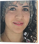 Young Palestinian In Traditional Dress In Bethlehem Wood Print