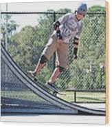 Young Skateboarder Wood Print
