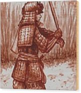 Young Warrior Wood Print