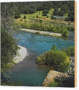 Yuba River California Wood Print