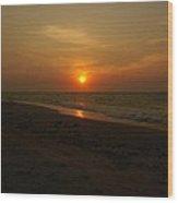 Yukatan Sunset Wood Print