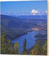 Yukon River In Fall Colors Wood Print