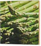 Yummy Asparagus Wood Print