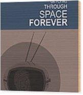 Yuri Gagarin Poster Wood Print