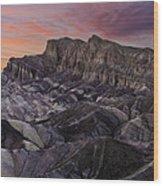 Zabriske Sunset Wood Print