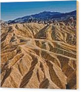 Zabriskie Point Badlands Wood Print