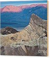 Zabriskie Point Dawn Wood Print by Jim Chamberlain