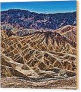 Zabriskie Point Panorama Wood Print