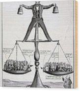 Zachary Taylor, Political Cartoon Wood Print