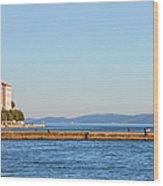 Zadar Pier On The Adriatic Sea Wood Print
