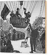 Zakharov's Balloon Flight, 1804 Wood Print by Ria Novosti