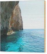 Zakynthos Blue Caves Wood Print