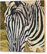 Zebra Stripes Wood Print