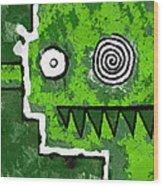Zeeko - Green Wood Print