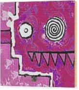 Zeeko - Pink Wood Print