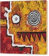 Zeeko - Red And Yellow Wood Print