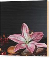 Zen Atmosphere At Spa Salon Wood Print
