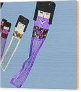 Zen Kimono Dolls Wood Print by David Lade