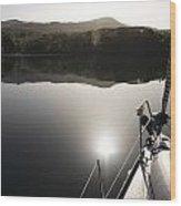 Zen Morning On A Sailing Boat Wood Print