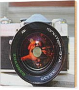 Zenit Photo Camera Wood Print
