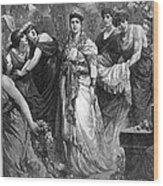 Zenobia (d. After 274 A.d.) Wood Print