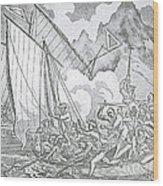 Zheng Yis Pirates Capture John Turner Wood Print by Photo Researchers