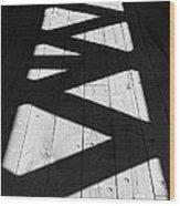 Zigzag  Wood Print by Luke Moore