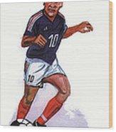 Zinedine Zidane 01 Wood Print